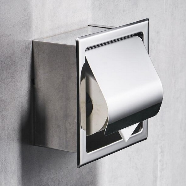 Recessed Square type SS304 toilet roll holder