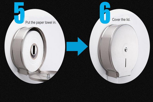 single roll toilet tissue dispenser