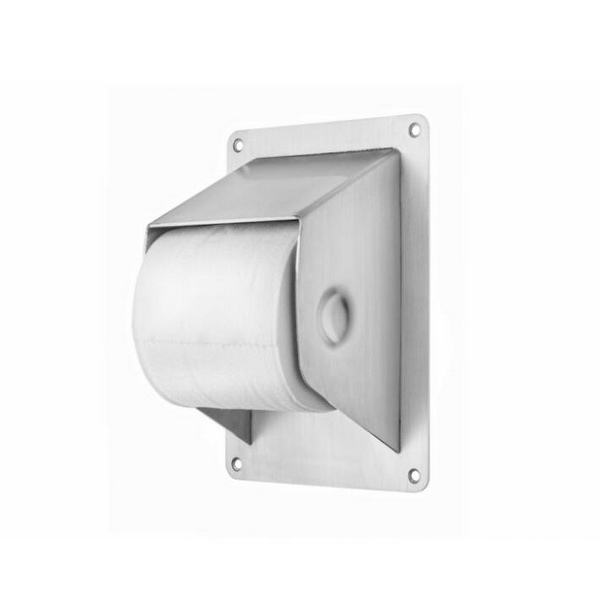 Wall mounted anti-ligature SS304 toilet roll holder