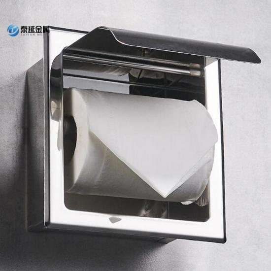 Recessed paper towel dispenser toilet used
