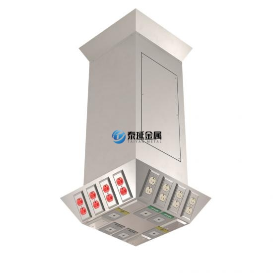 Manual retractable ceiling column